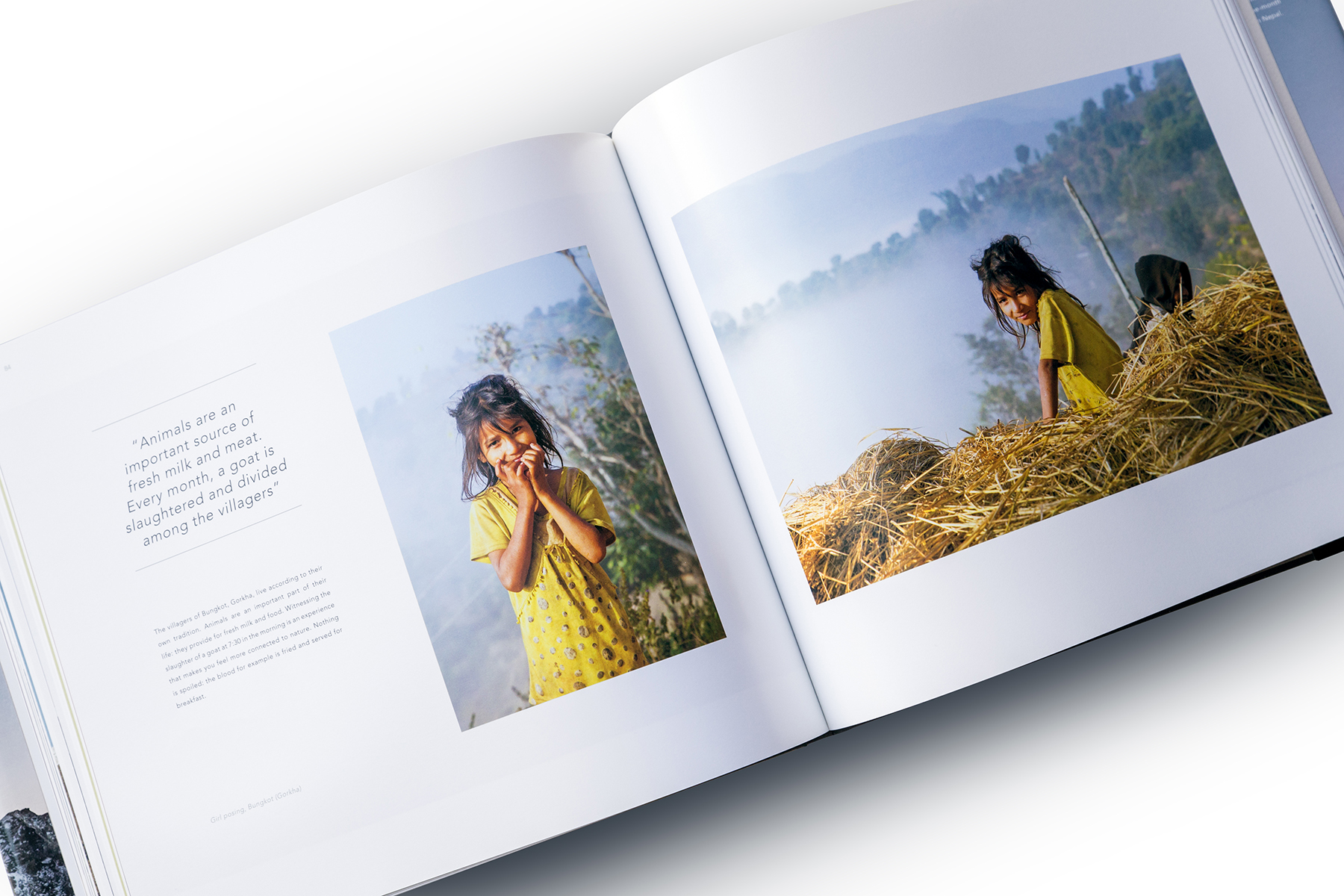 Pages from the book, Girl posing, Bungkot (Gorkha)