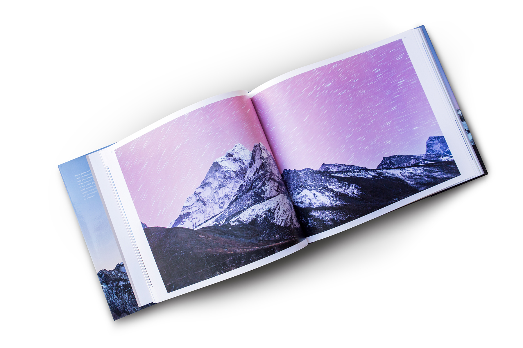 Panorama from the book, star trails above Ama Dablam (seen from Dingboche)